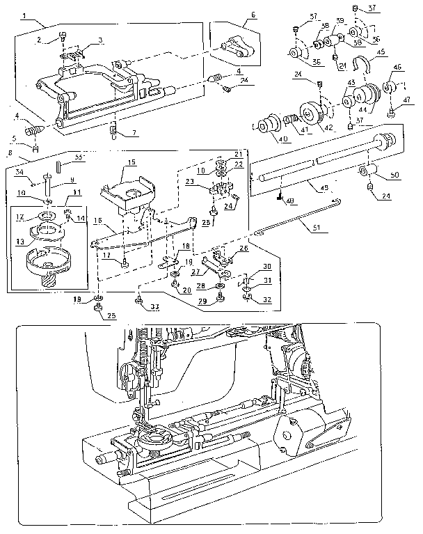 SHUTTLE ASSEMBLY Diagram & Parts List for Model