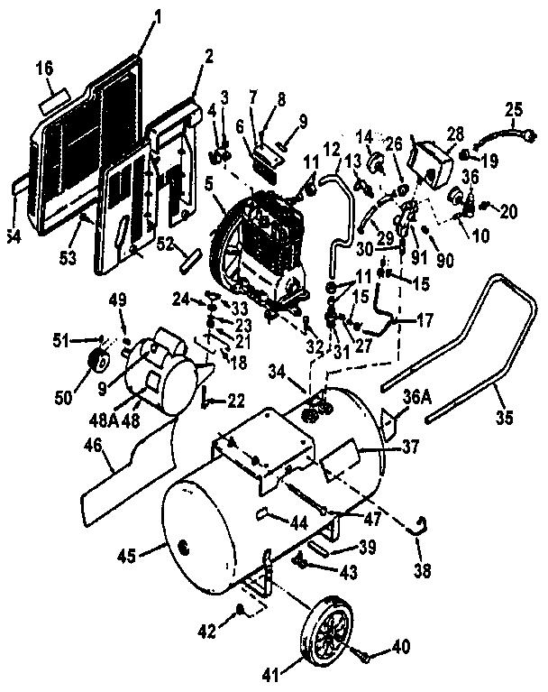 American Flyer Locomotive Wiring Diagrams Craftsman Air Compressor Parts Model 919175960 Sears
