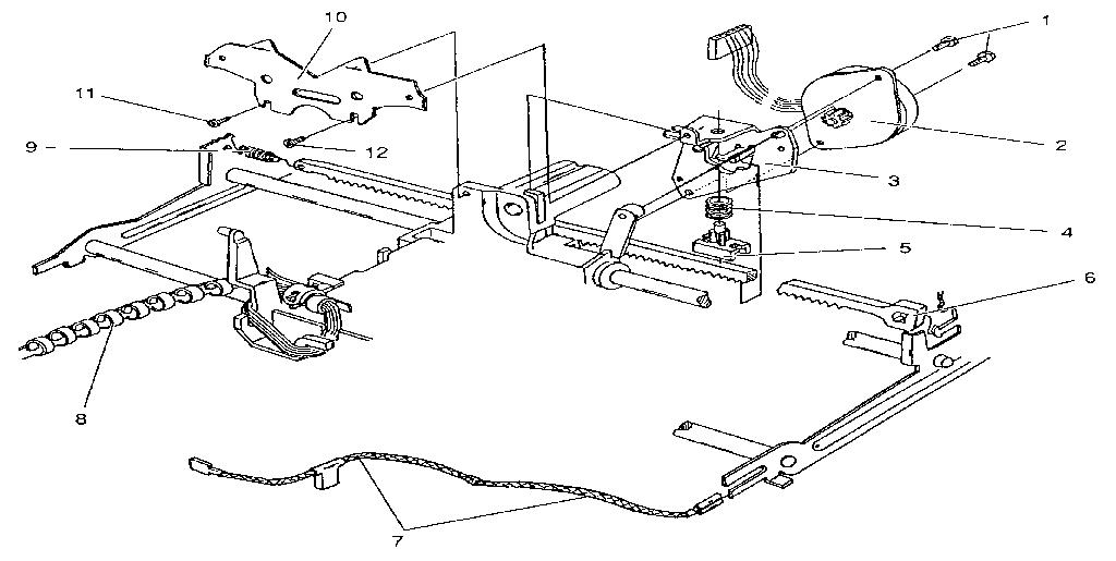CARRIER DRIVE Diagram & Parts List for Model SL4805ACM