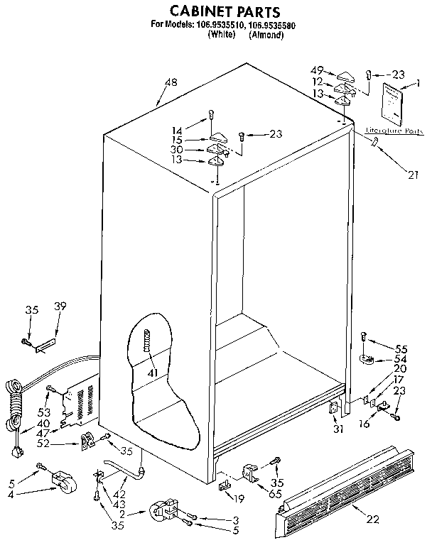 Kenmore 106 9535510 Refrigerator Wiring Diagram