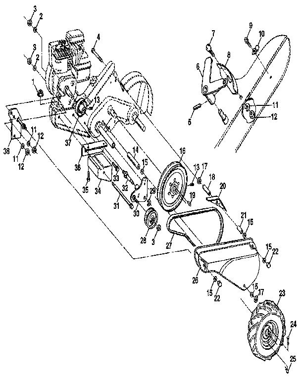 MAINFRAME, LEFT SIDE Diagram & Parts List for Model