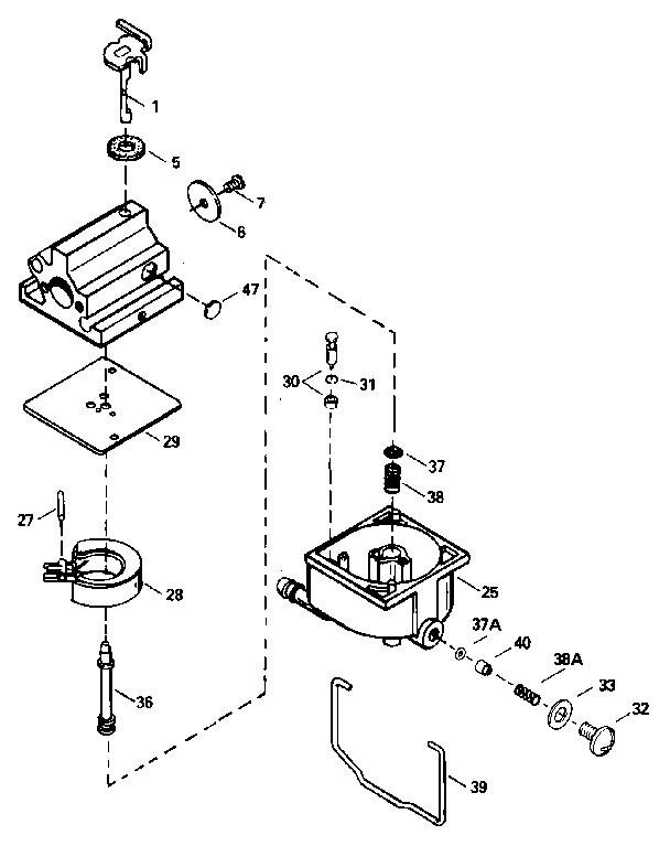 CARBURETOR 632671 (71/143) Diagram & Parts List for Model
