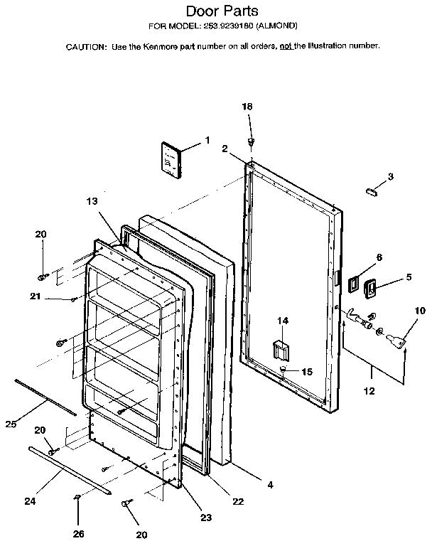 Kenmore Upright Freezer 970-180020 Manual