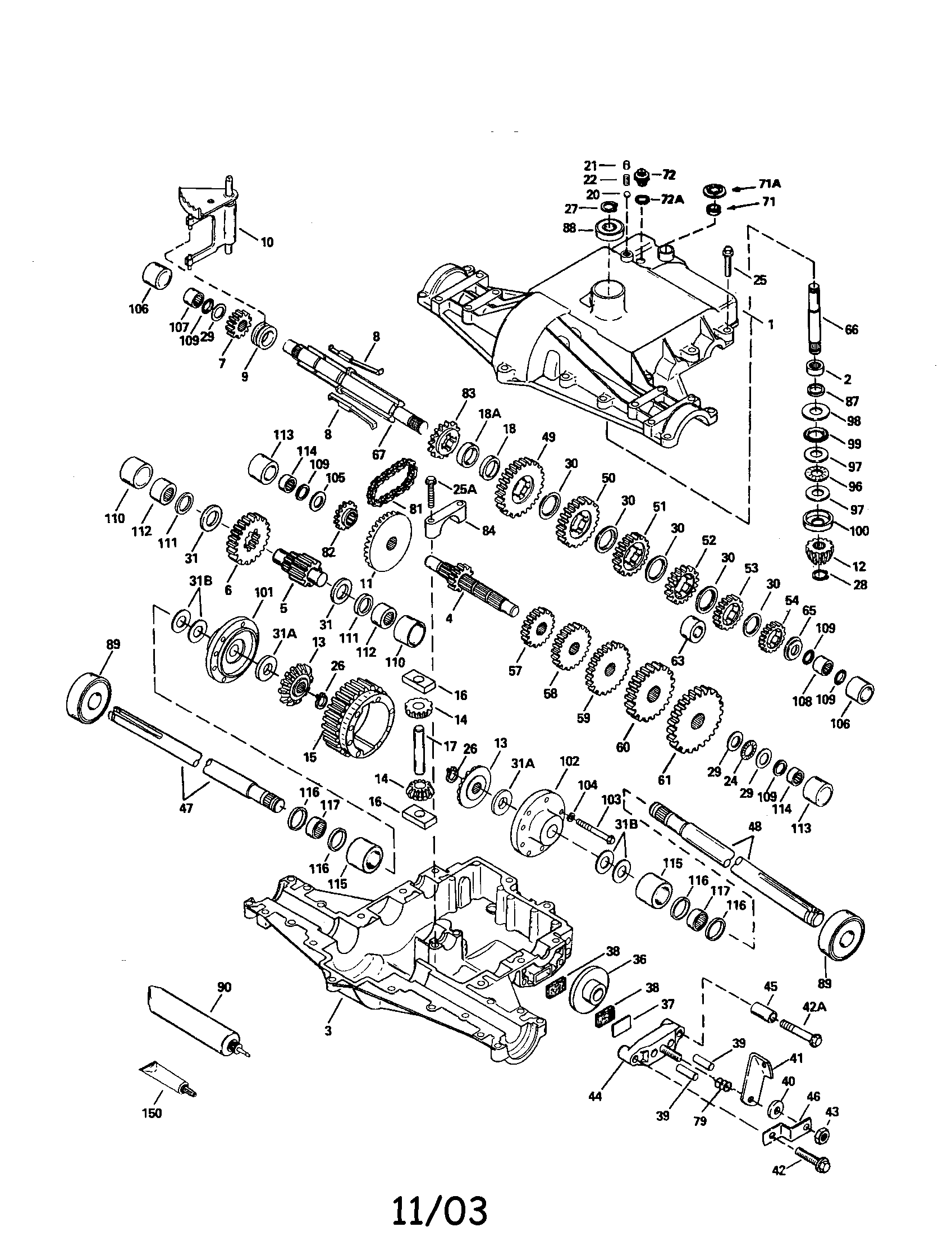 TRANSAXLE 820-016B (71/143) Diagram & Parts List for Model