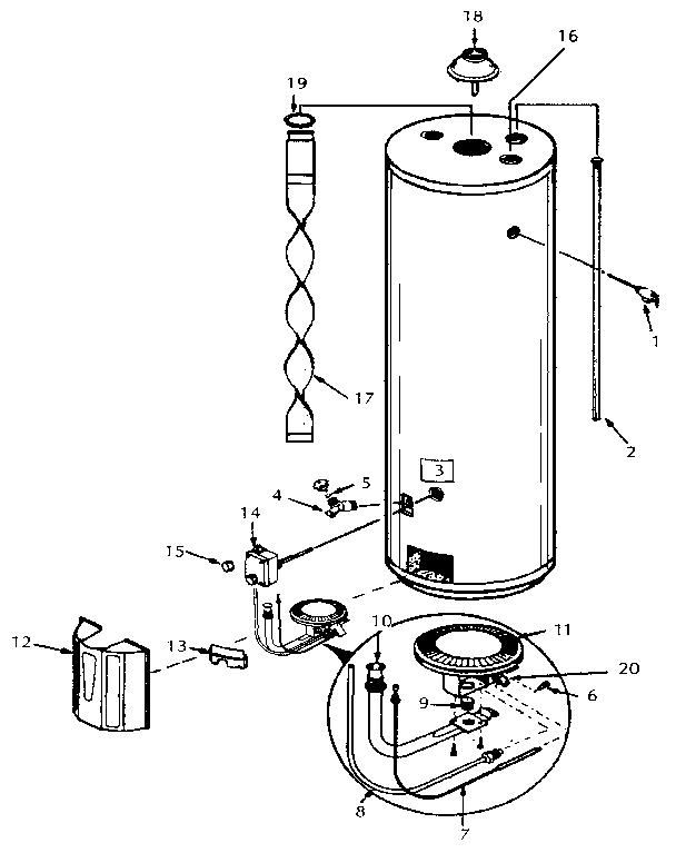 KENMORE KENMORE POWER MISER 8 GAS WATER HEATER (30 GAL