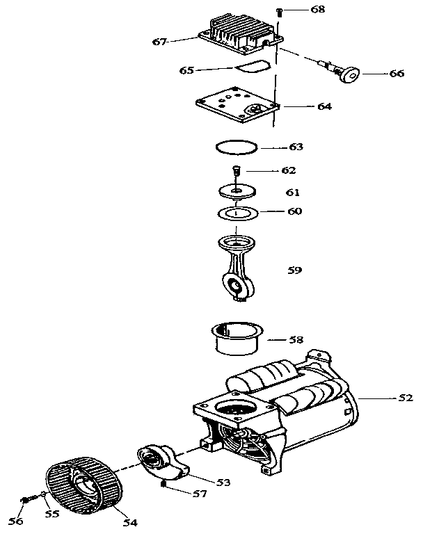 COMPRESSOR PUMP Diagram & Parts List for Model 919152920