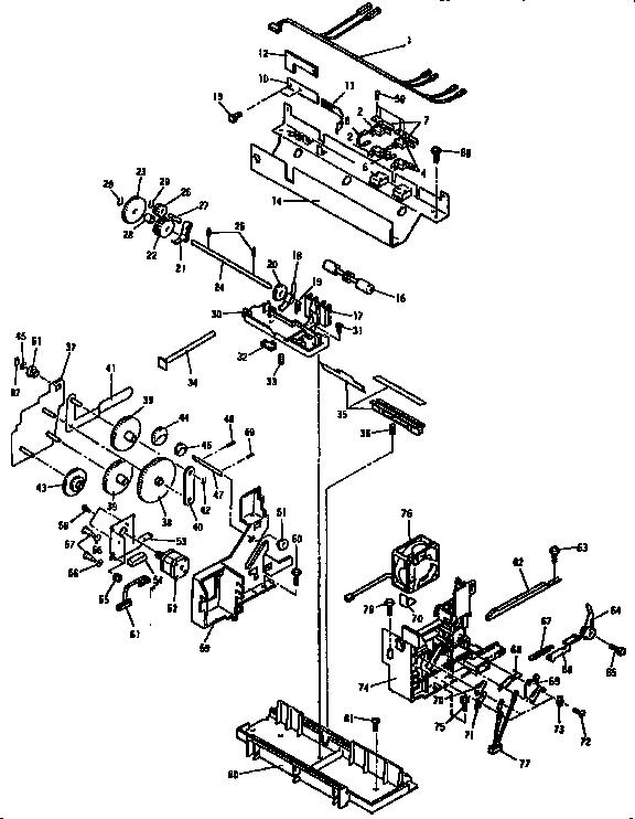 INTERNALS Diagram & Parts List for Model HL6V Brother