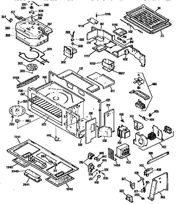 ge jvm192k01 microwave hood combo parts