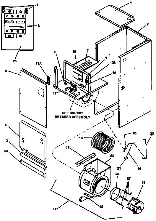 UNIT PARTS Diagram & Parts List for Model a3205 Goodman