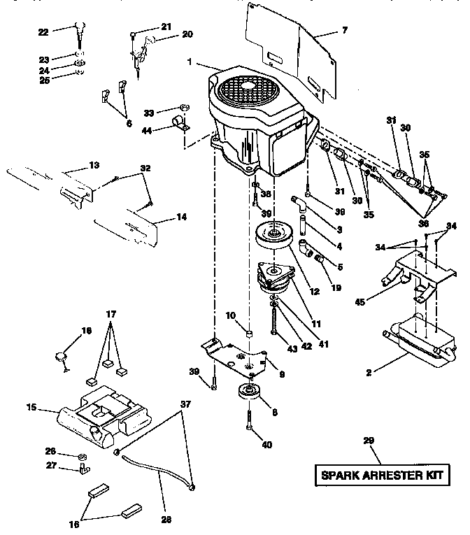 ENGINE Diagram & Parts List for Model 917257711 Craftsman