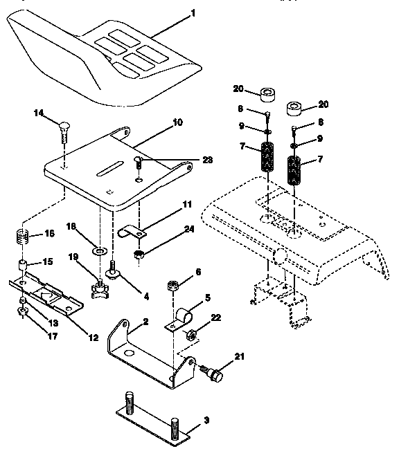 SEAT ASSEMBLY Diagram & Parts List for Model 917250261