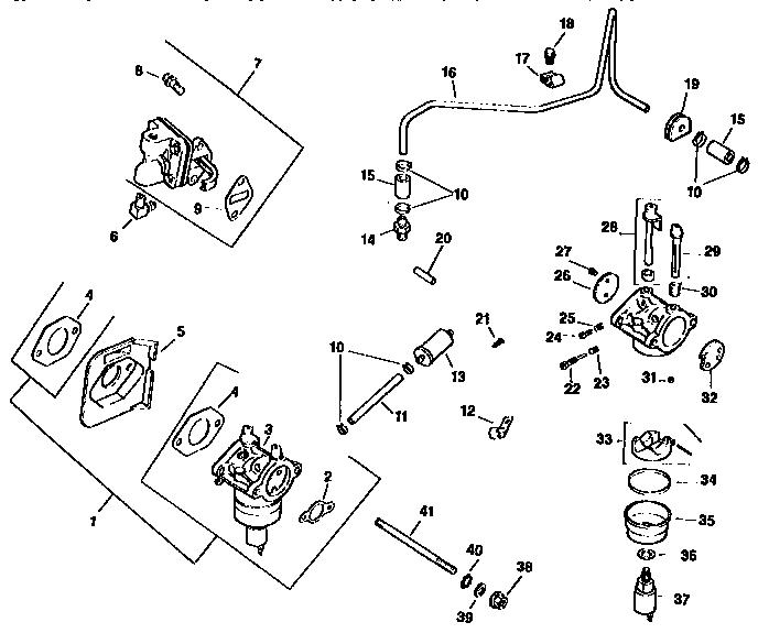 ENGINE CV15S-PS41508 (71/501) Diagram & Parts List for