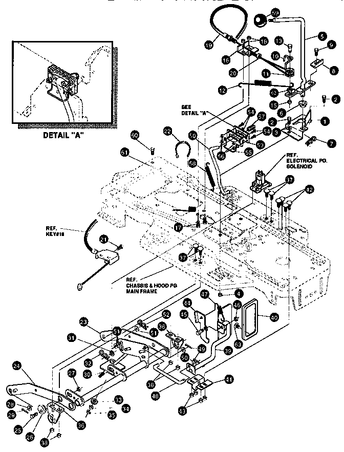 MOWER SUSPENSION ASSEMBLY Diagram & Parts List for Model