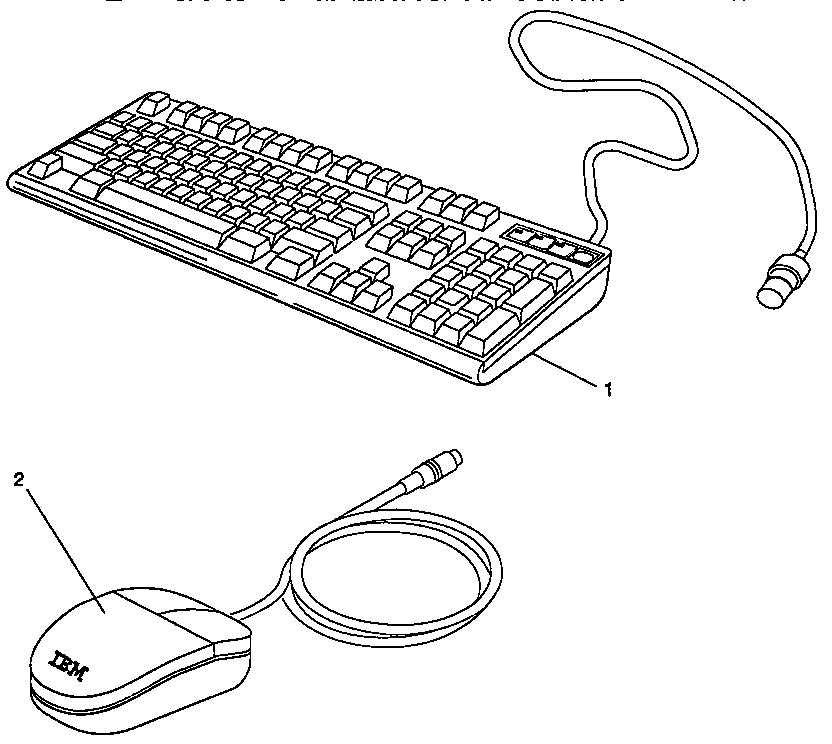 KEYBOARD AND MOUSE Diagram & Parts List for Model