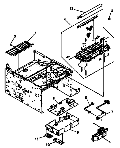 BLOCK AND PCA ASSEMBLY Diagram & Parts List for Model