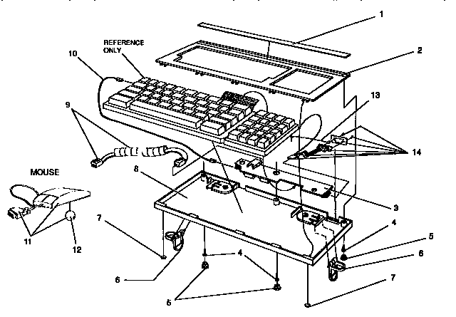 KEYBOARD ASSEMBLY Diagram & Parts List for Model