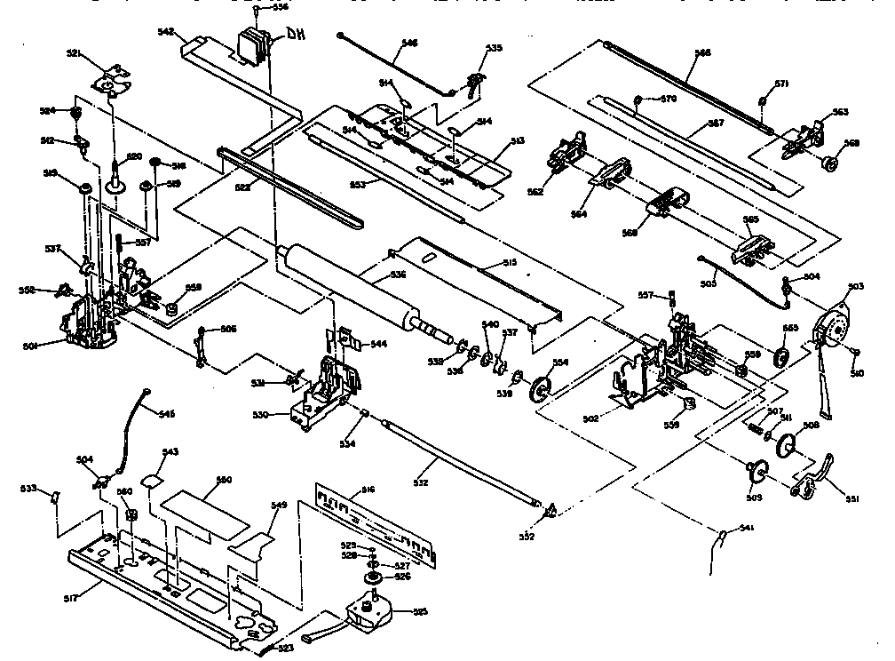 PRINTER MECHANISM Diagram & Parts List for Model LX300