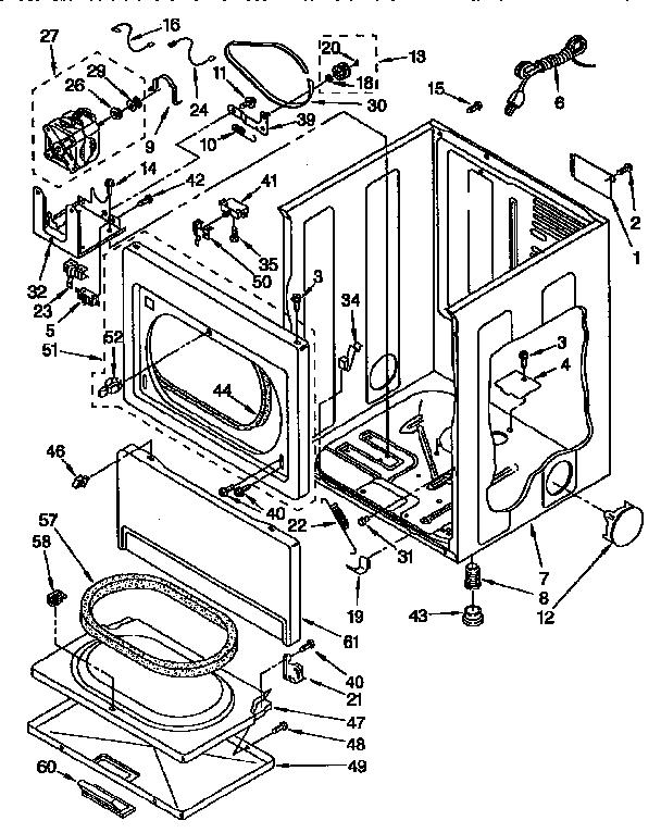 Wiring Diagram: 30 Kenmore Gas Dryer Parts Diagram