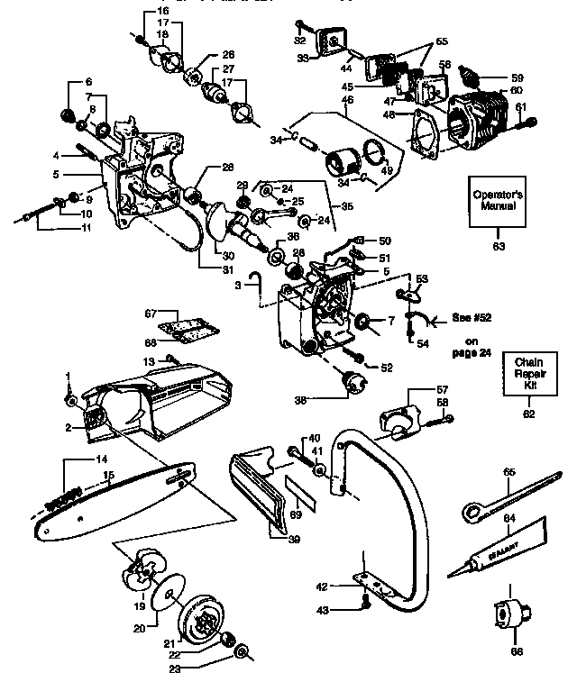 Sears Craftsman Chainsaw Parts Diagram, Sears, Free Engine