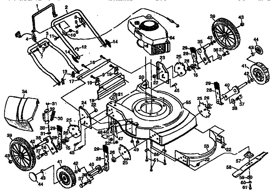 LAWN MOWER Diagram & Parts List for Model 917380520