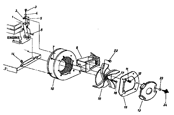BLOWER HOUSING Diagram & Parts List for Model 247797900