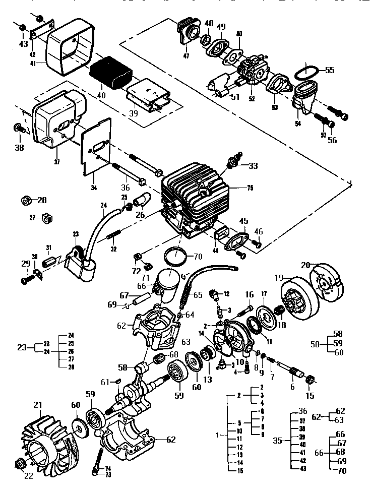 Mcculloch Mac 3200 Chainsaw Parts Diagram, Mcculloch, Free