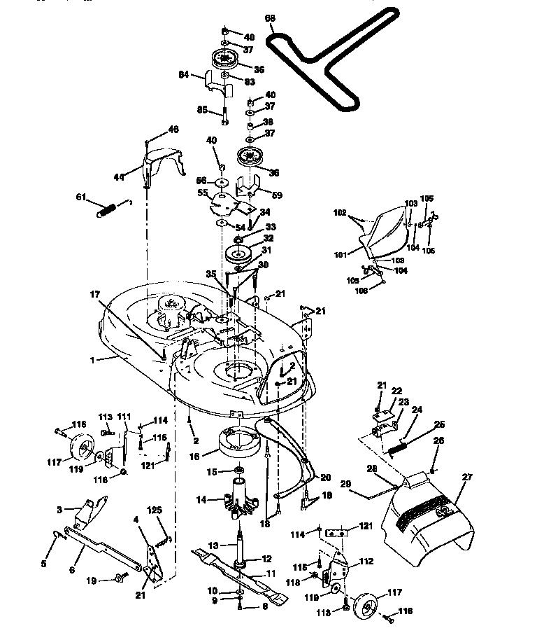 MOWER DECK Diagram & Parts List for Model 917252590