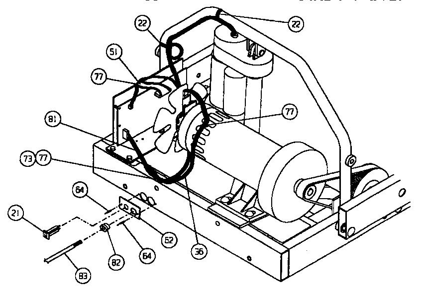 UNIVERSAL/MULTIFLEX (FRIGIDAIRE) Oem Treadmill Motor