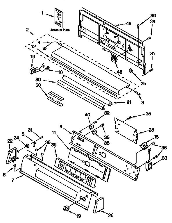 CONSOLE PANEL Diagram & Parts List for Model 11096595420