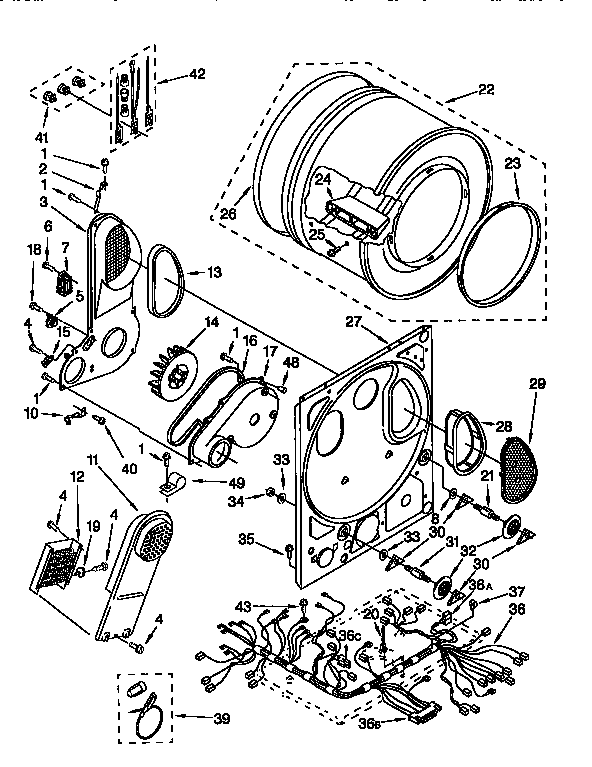 DRYER BULKHEAD Diagram & Parts List for Model 11098575120