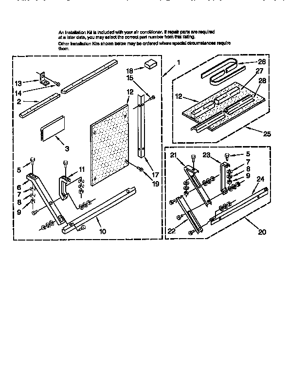 INSTALLATION Diagram & Parts List for Model 1069751830