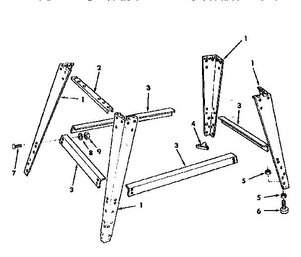 LEG SET Diagram & Parts List for Model 113248322 Craftsman