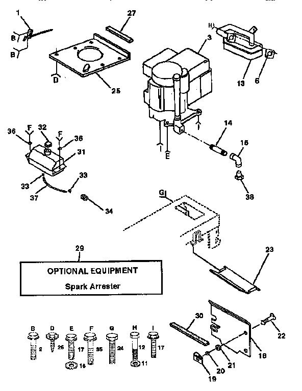 ENGINE Diagram & Parts List for Model 917255441 Craftsman