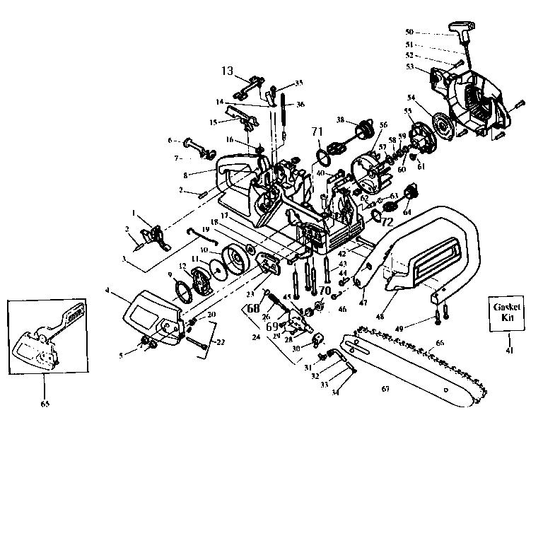 CRAFTSMAN Chain Saw Carburetor kit #530-06970 Parts