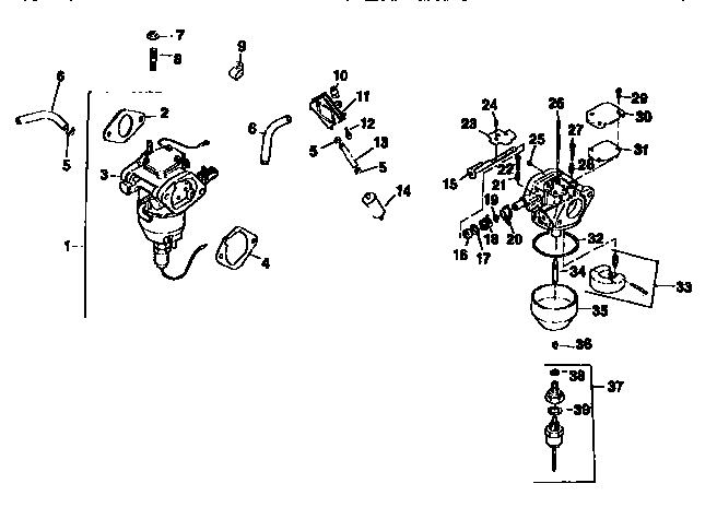 FUEL SYSTEM Diagram & Parts List for Model 917250541