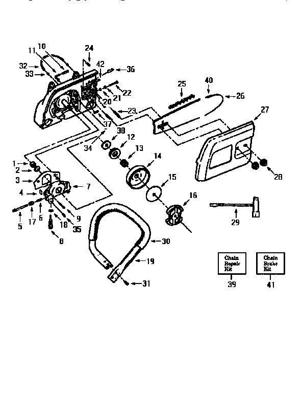 HANDLEBAR Diagram & Parts List for Model 35498 Craftsman