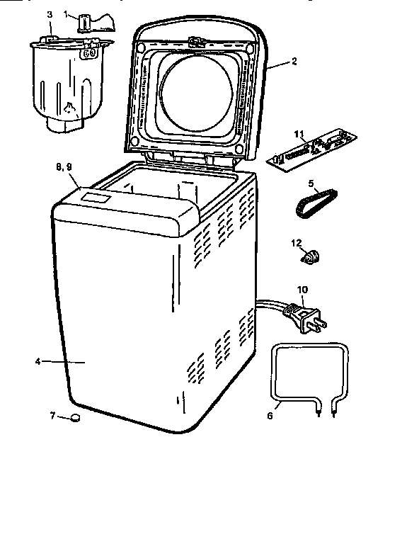 Black And Decker Breadmaker Replacement Parts