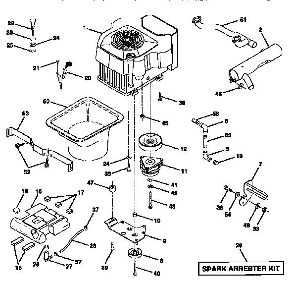 ENGINE Diagram & Parts List for Model 917251520 Craftsman