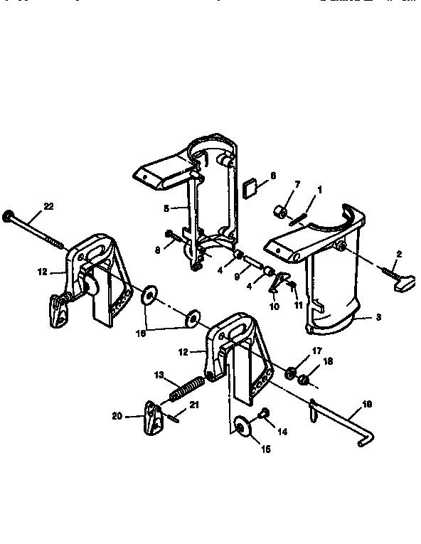 SWIVEL BRACKET/CLAMP BRACKET Diagram & Parts List for