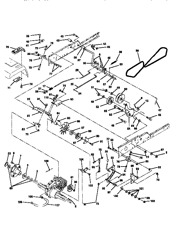 GROUND DRIVE Diagram & Parts List for Model 917251570