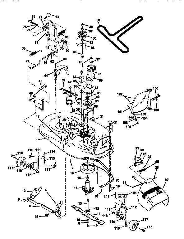 MOWER DECK Diagram & Parts List for Model 917256561