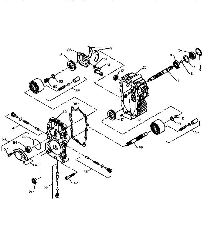 PUMP BU-10L-122 (71/917) Diagram & Parts List for Model