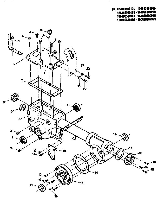 TRANSMISSION HSG,SEALS,GASKETS Diagram & Parts List for