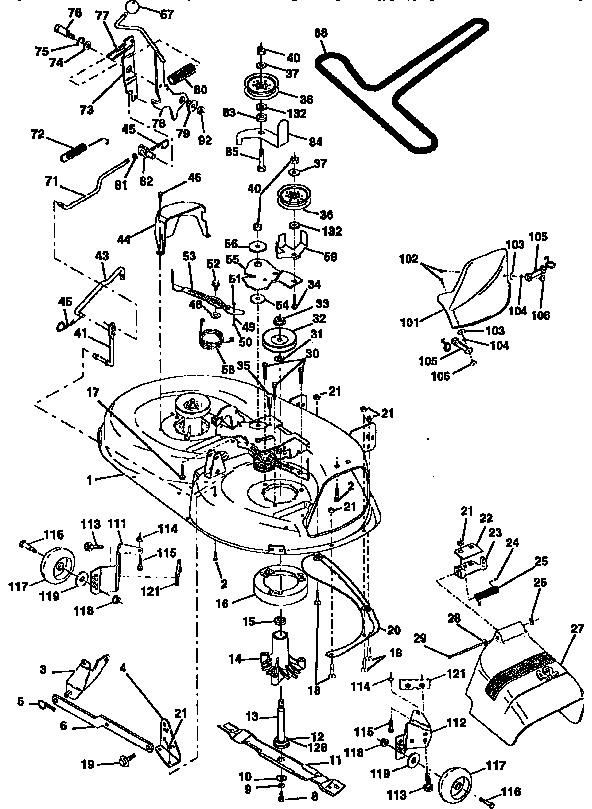 MOWER DECK Diagram & Parts List for Model 917256552