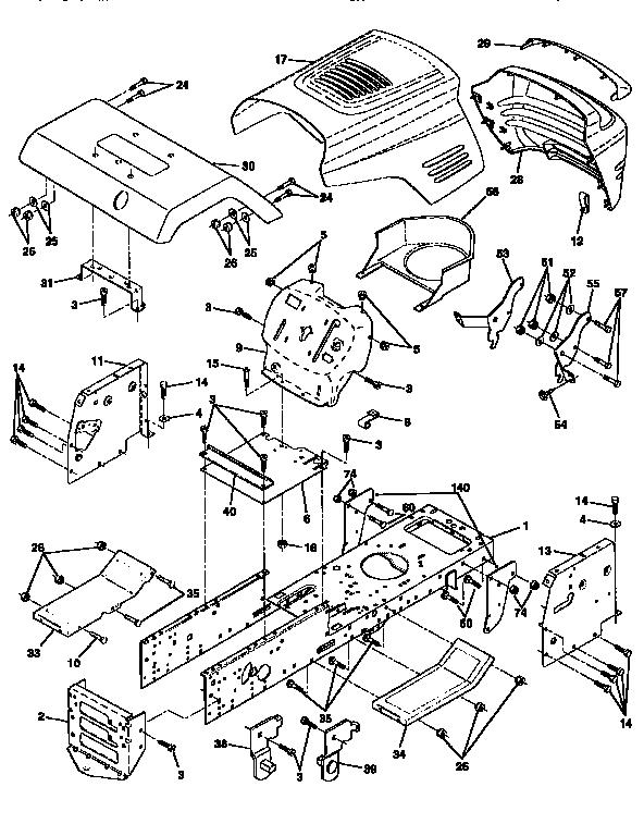 Craftesman Lawn Tractor Mod 917 272751 Wiring Diagram : 53