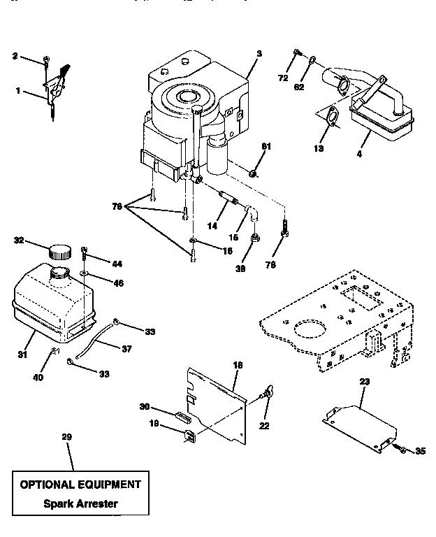 ENGINE Diagram & Parts List for Model 917256531 Craftsman