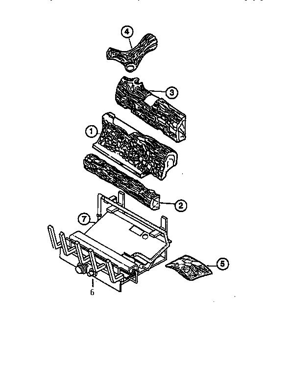 Gas Log: Gas Log Fireplace Parts