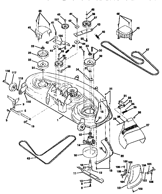 Ford 916a mower deck parts