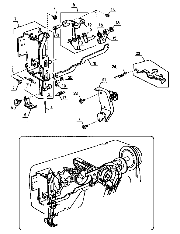 THREAD TENSION Diagram & Parts List for Model 38511101590