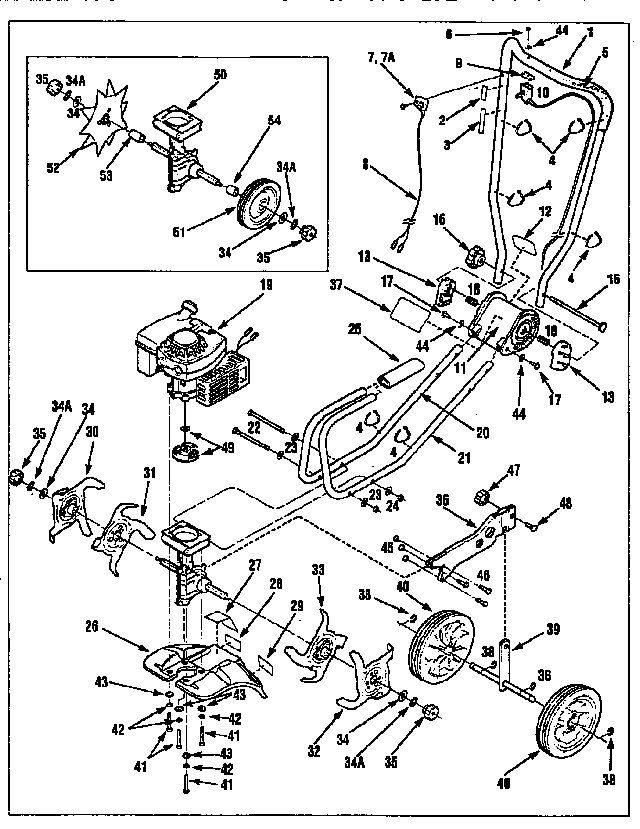 Replacement Ignition switch #1983718 for CRAFTSMAN Lawn